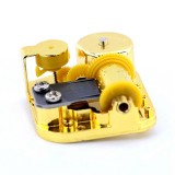 Eight-tone Gold-plated Bar Repair Parts DIY Sky City Paperback Music Box (Castle in the Sky)