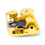 Eight-tone Gold-plated Bar Repair Parts DIY Sky City Paperback Music Box (Swan Lake)
