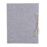 10 inch Vertical Photo Album Hand-paste Linen Album Children Growth Creative Gift Album (Gray)