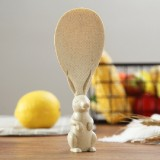 Wheat Straw Rabbit Shape Non Stick Rice Grain Household Rice Cooker Rice Spoon (Beige)