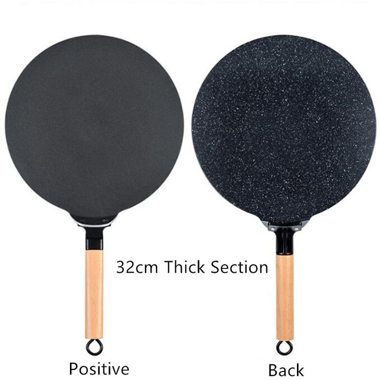Pancake Fruit Pan Non Stick Pan Steak Frying Pan Multigrain Pancake Baking Tool, Size: 32cm (Black)