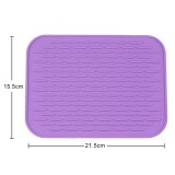 2 PCS Thicken Colorful Silicone Insulation Mat European Anti-burning Pot Pad Table Waterproof Phone Pad (Purple)