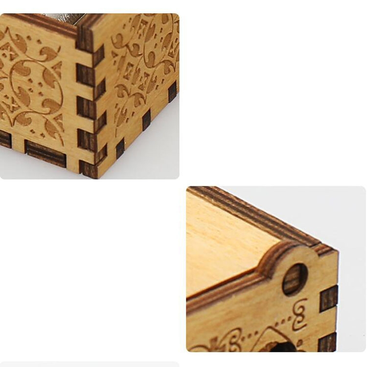 Retro Wooden DIY Music Box Mini Hand-cranked Creative Music Box (Godfather)