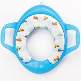 Children Soft Potty Training Seat Splash Guard Washable Toilet Training Potty Cushion (Blue)