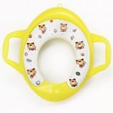 Children Soft Potty Training Seat Splash Guard Washable Toilet Training Potty Cushion (Yellow)