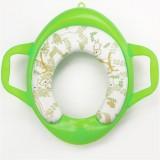 Children Soft Potty Training Seat Splash Guard Washable Toilet Training Potty Cushion (Green)