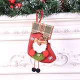 2 PCS Mini Christmas Stockings Gift Bags Christmas Decorations for Home Festival Party (Santa Claus Style)