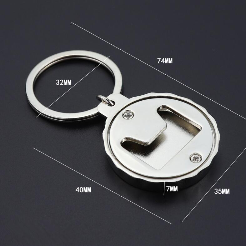 2 PCS Beer Bottle Opener Keychain Creative Practical Gift Pendant