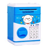 Simulation Cartoon ATM Password Safe Automatic Money Roller with Music Coin Piggy Bank (Save Money Dog)