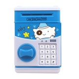 Simulation Cartoon ATM Password Safe Automatic Money Roller with Music Coin Piggy Bank (Good Night Bear)