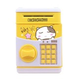 Simulation Cartoon ATM Password Safe Automatic Money Roller with Music Coin Piggy Bank (Good Night Cat)