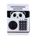 Simulation Cartoon ATM Password Safe Automatic Money Roller with Music Coin Piggy Bank (Panda)