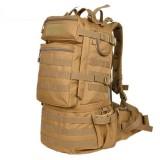 Waterproof Nylon Backpack Shoulders Bag Outdoors Hiking Camping Travelling Bag, Capacity: 45L (Khaki)