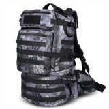 Waterproof Nylon Backpack Shoulders Bag Outdoors Hiking Camping Travelling Bag, Capacity: 45L (Black Python)