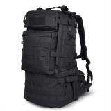 Waterproof Nylon Backpack Shoulders Bag Outdoors Hiking Camping Travelling Bag, Capacity: 45L (Black)