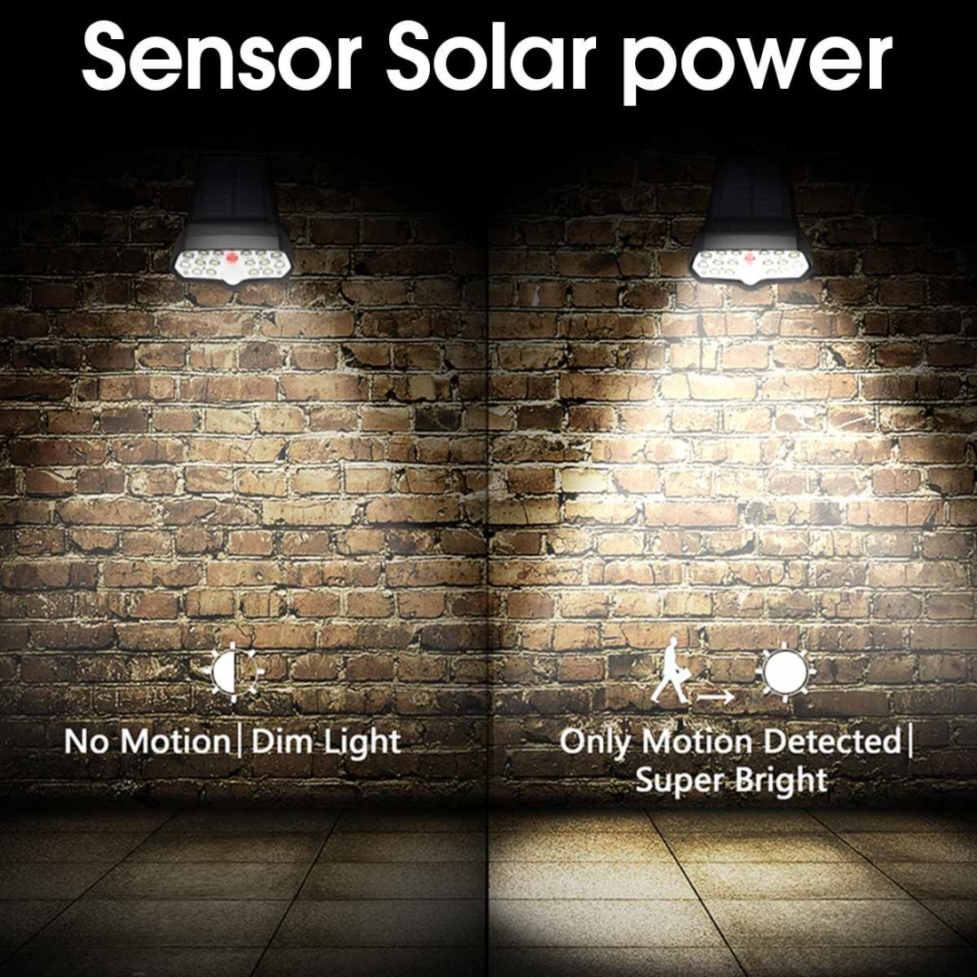 16 LEDs Bulb Dimmable Solar Powered Wall Lamp Outdoor IP65 Waterproof Garden Security Night Light