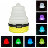 2 PCS Portable Emergency Camping Lantern Tent Soft Light Outdoor Hanging 5 LED Bulb (Yellow)