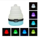 2 PCS Portable Emergency Camping Lantern Tent Soft Light Outdoor Hanging 5 LED Bulb (Blue)