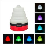 2 PCS Portable Emergency Camping Lantern Tent Soft Light Outdoor Hanging 5 LED Bulb (Red)