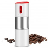 Rechargeable Portable Travel Coffee Grinder Automatic Espresso Machine Coffee Maker (White)