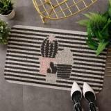 40x60cm Entrance Hall Carpet PVC Wire Loop Mat Door Mat Living Room Floor Non-slip Rug (Stripe)