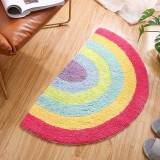 Cotton Rainbow Carpets Living Room Bedroom Doormat Home Anti-Slip Rug, Size: 50cmx80cm (Rainbow)