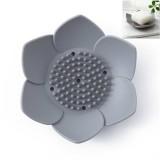 Silicone Drain Soap Bathroom Soap Box (Gray)