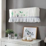 82x18x28cm Fresh Literary Chiffon Lace Bedroom Air Conditioning Dust Cover (Green Flower and Glass)