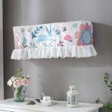 82x18x28cm Fresh Literary Chiffon Lace Bedroom Air Conditioning Dust Cover (Big Flower Blue Rabbit)