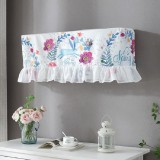 82x18x28cm Fresh Literary Chiffon Lace Bedroom Air Conditioning Dust Cover (Purple Flower Blue Rabbit)