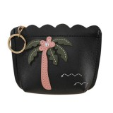 3 PCS Women Fashion Zipper Handbag Clutch Bags Coin Purse (Black)