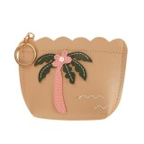 3 PCS Women Fashion Zipper Handbag Clutch Bags Coin Purse (Khaki)