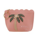 3 PCS Women Fashion Zipper Handbag Clutch Bags Coin Purse (Pink)
