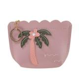 3 PCS Women Fashion Zipper Handbag Clutch Bags Coin Purse (Purple)