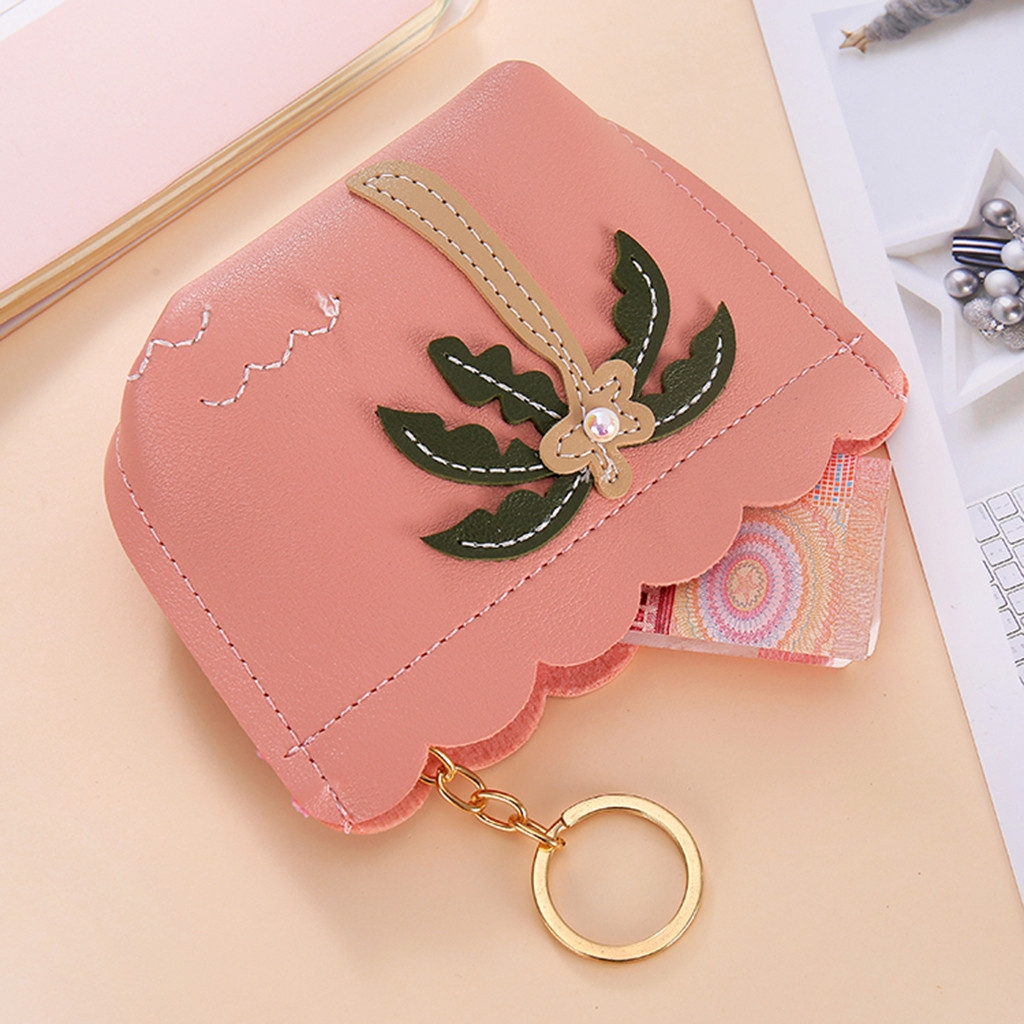 3 PCS Women Fashion Zipper Handbag Clutch Bags Coin Purse (Purple)