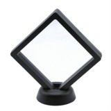 Square Nail Gel Display Stand Color Card Jewelry Display False Nail Practice Stand Nail Gel Photo Shelf (Black)
