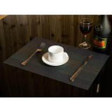 2 PCS Home Table Cup Mat Creative Decor Coffee Drink Placemat Tableware, Size: 45x30cm (Dark Blue)