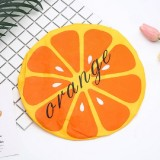 3 PCS Adult Lace Fruit Waterproof and Oily Shower Cap (Orange)