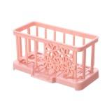 Simple Plastic Drain Rack Kitchen Supplies Sponge Storage Rack Storage Rack (Light Pink)