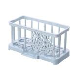 Simple Plastic Drain Rack Kitchen Supplies Sponge Storage Rack Storage Rack (Light Blue)