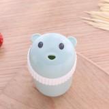 Household Cute Cartoon Toothpick Holder Portable Restaurant Hotel Toothpick Can Box (Green)