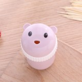 Household Cute Cartoon Toothpick Holder Portable Restaurant Hotel Toothpick Can Box (Pink)