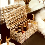 Light Luxury Crystal Lipstick Box Cosmetic Jewelry Box Crystal Pen Tissue Box Crystal Tray, Style: Lipstick Box (Crystal)