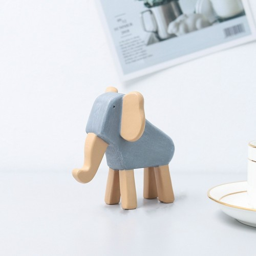 Resin Crafts Animal Ornaments Living Room Cabinets Work Surface Decoration (Elephant)