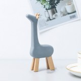 Resin Crafts Animal Ornaments Living Room Cabinets Work Surface Decoration (Giraffe)