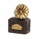 Retro Old Creative Resin Mini Ornaments Home Decorations Shop Shooting Props (Record Player)