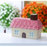 Mini Micro Landscape Small House Resin Ornaments Creative Home Decorations (Romantic Cottage)