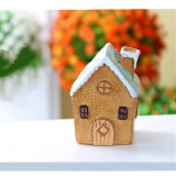 Mini Micro Landscape Small House Resin Ornaments Creative Home Decorations (Small Villa)