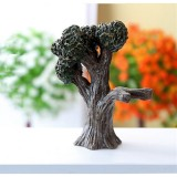 Mini Micro Landscape Small House Resin Ornaments Creative Home Decorations (Big Tree)