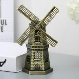 Metal Crafts Windmill Model Ornaments Decoration (Bronze)